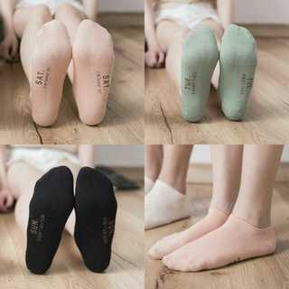 スニーカーソックス アンクルソックス 7足セット 袋付 1Week Socks(ソックス)