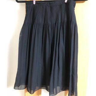 黒 フリルスカート(ひざ丈スカート)