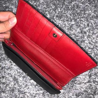 Gucci - 希少 GUCCI 長財布 黒 赤 ツートンカラー箱付き