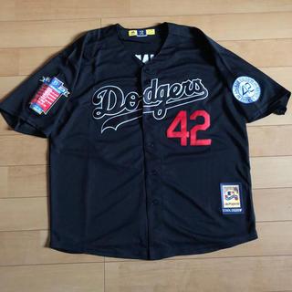 Supreme - dodgers ロビンソン 42 ベースボールシャツ