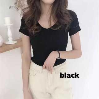 Tシャツ ダブルVネック カットソー ブラック FREE*TTS004-BKFR(Tシャツ(半袖/袖なし))