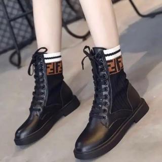 Fマーク ショートブーツ(ブーツ)