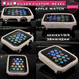 アップルウォッチ(Apple Watch)のシリーズ1/2/3用■アップルウォッチカスタムカバーベゼル■38mm 42mm(腕時計)