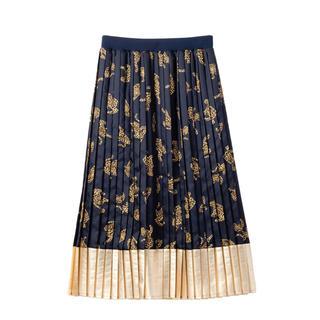 ミュベールワーク(MUVEIL WORK)のMUVEILレオパード柄スカート新品(ロングスカート)