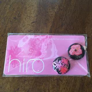 【新品・未使用】hiro バッジ(バッジ/ピンバッジ)