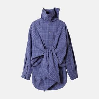 ルシェルブルー(LE CIEL BLEU)のIRENE ◇ Check Back Knot Shirt ◇ 新品未使用(シャツ/ブラウス(長袖/七分))