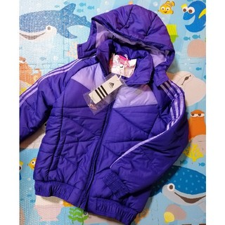 アディダス(adidas)の新品 タグ付き アディダス ダウン コート アウター 130 140 紫(コート)