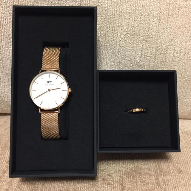 Daniel Wellington - ダニエルウェリントン 腕時計32mm リング9号 ローズゴールド 指輪 セットの通販