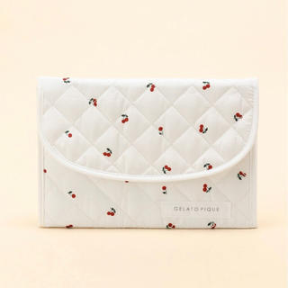 gelato pique - 【完売品】ジェラートピケ キルティングチェリー柄 横型 母子手帳ケース OWHT