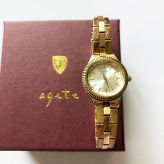 agete - agete アガット 18YG時計 ジュエリーウォッチ 腕時計 ゴールド 稼働品