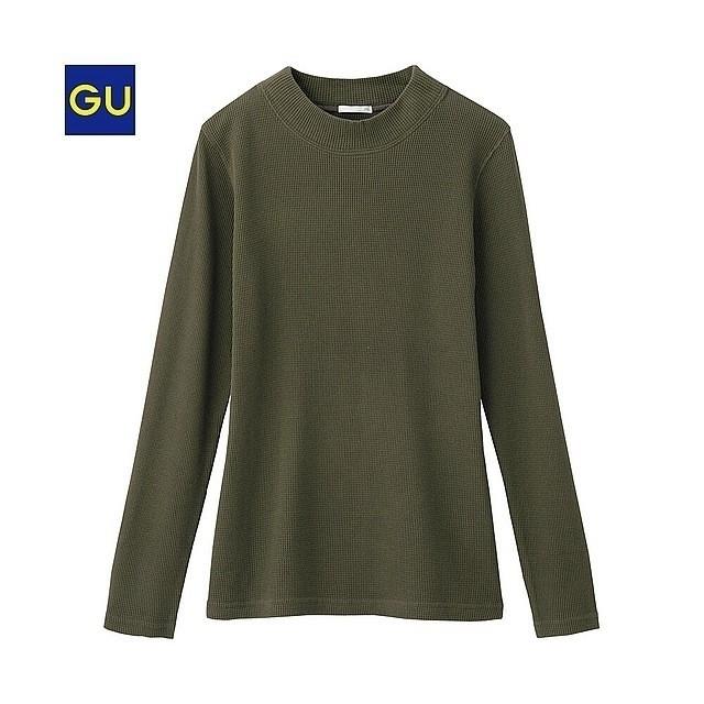 GU(ジーユー)のGU/ジーユー/ワッフルハイネックT(長袖) レディースのトップス(カットソー(長袖/七分))の商品写真