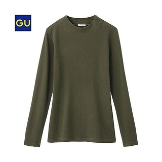 GU - GU/ジーユー/ワッフルハイネックT(長袖)