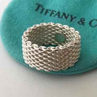 ティファニー(Tiffany & Co.)のTiffany メッシュ リング 16号(男女兼用)(リング(指輪))