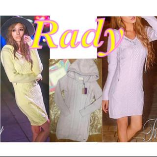 Rady - Rady 新品タグ付き 定価11,800円‼︎ 高級 胸元ビジューニットワンピ