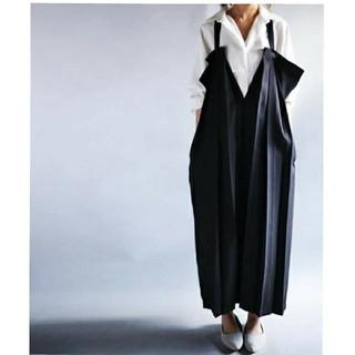 antiqua - 試着のみ《アンティカ/antiqua》デザインプリーツジャンパースカート