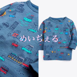 ネクスト(NEXT)の【新品】next ブルー 長袖クルマ柄Tシャツ(ヤンガー)(シャツ/カットソー)