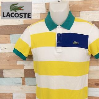 LACOSTE - 【LACOSTE】 美品 ラコステ 半袖ポロシャツ イエローボーダー 綿 2