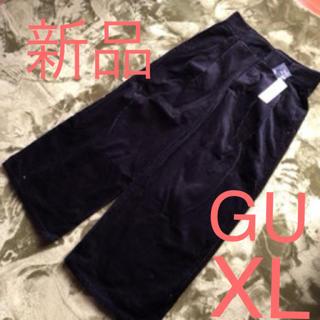 GU - 新品☆GU  コーデュロイワイドパンツ XL