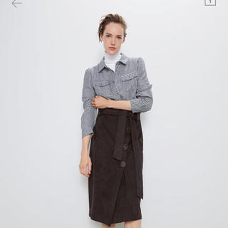 ZARA - 美品 今期 ZARA スエード風スカート XS