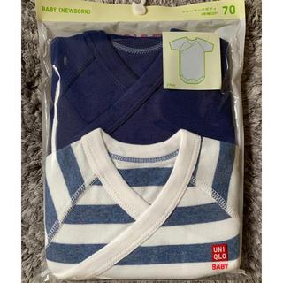 UNIQLO - ユニクロ UNIQLO ベビー ボディ スーツ 肌着 半袖 70 青 新品