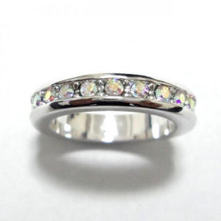 2号 フルエタニティ スワロフスキー オーロラクリア シルバーリング(リング(指輪))