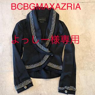 ビーシービージーマックスアズリア(BCBGMAXAZRIA)の値下げ 新品 未使用 BCBG カシュクール ツイードトリミング ジャケット (テーラードジャケット)