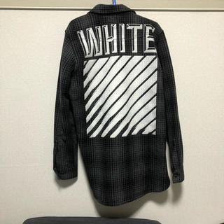 OFF-WHITE - 【イーストランドタグ付き】off-white チェック厚手ネルシャツ