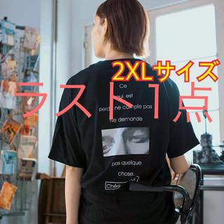 志田愛佳着用モデル バックフォトプリントTシャツ 黒 M L XL 2XL  (Tシャツ(半袖/袖なし))