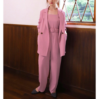 one after another NICE CLAUP - 新品 NICE CLAUP  Pink サロペット