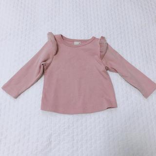 プティマイン(petit main)の90*プティマイン 肩フリル トップス(Tシャツ)