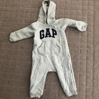 babyGAP - baby GAP 裏起毛ロンパース カバーオール 80センチ グレー
