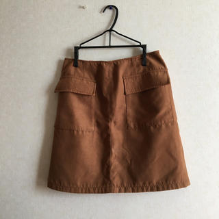 Rope' Picnic - スウェード スカート 台形 ブラウン
