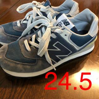 New Balance - ニューバランスクラシック574ネイビー24.5