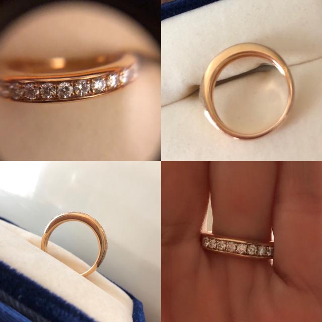 Vendome Aoyama(ヴァンドームアオヤマ)のヴァンドーム青山  K18 ハーフエタニティ ダイヤモンドリング  レディースのアクセサリー(リング(指輪))の商品写真