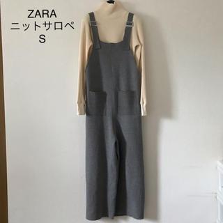 ZARA - ZARA ザラ ニットサロペット オールインワン ロンパース S