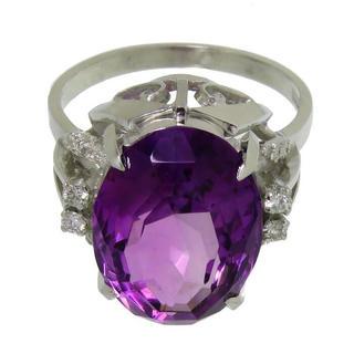 アメジスト ダイヤモンド リング・指輪 K14(リング(指輪))