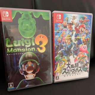 ニンテンドースイッチ(Nintendo Switch)のルイージマンション3 【スマブラ】大乱闘スマッシュブラザーズ SPECIAL(家庭用ゲームソフト)