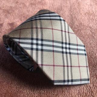 BURBERRY - 一回使用.超美品.送料無料バーバリーロンドン ネクタイ。