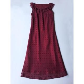 ROPE - ROPE 赤のロングドレス 9号 9AT