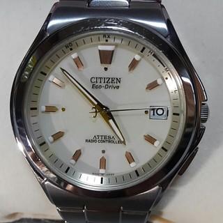シチズン(CITIZEN)のCITIZENアテッサ.エコドライブ.チタン.電波ソーラー腕時計(腕時計(アナログ))