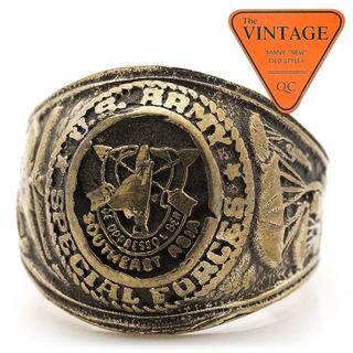 USアーミー ビンテージ 重厚 カレッジリング ミリタリー 21.5号 アメリカ(リング(指輪))