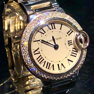 Cartier - 極美品 カルティエ バロンブルー SM レディース ダイヤモンド