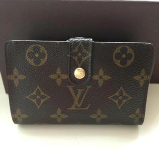 LOUIS VUITTON - 美品 正規品ルイヴィトンモノグラムがま口 折財布