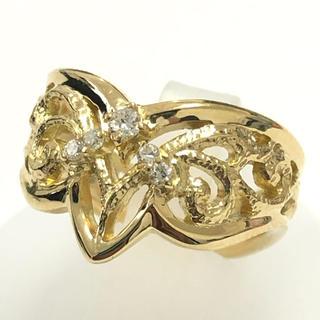 ホシエス リング ダイヤモンド 指輪 k18yg イエローゴールド 田中 貴金属(リング(指輪))