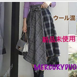 MERCURYDUO - 新品未使用★マーキュリーデュオ ロングブロッキングチェックスカート