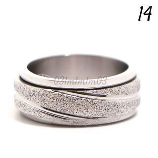 F9 リング 14号 ステンレス フロスト シルバー スタイリッシュ(リング(指輪))