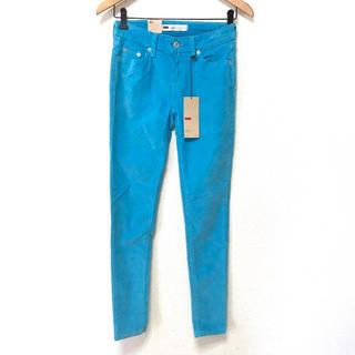 リーバイス(Levi's)の【定価7000円】Levi's W26 M コーデュロイ カラー 水色 ブルー(デニム/ジーンズ)