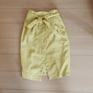 COCO DEAL - COCODEAL 膝丈 ウエストリボン スリットスカート