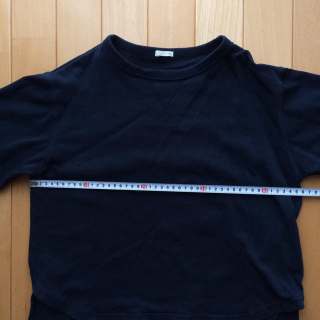 GU(ジーユー)のスウェット プルオーバー 140 ネイビー キッズ/ベビー/マタニティのキッズ服 男の子用(90cm~)(Tシャツ/カットソー)の商品写真