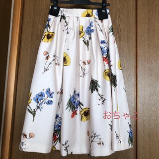 マイストラーダ(Mystrada)の美品☆アシメタック花柄スカート  (ロングスカート)